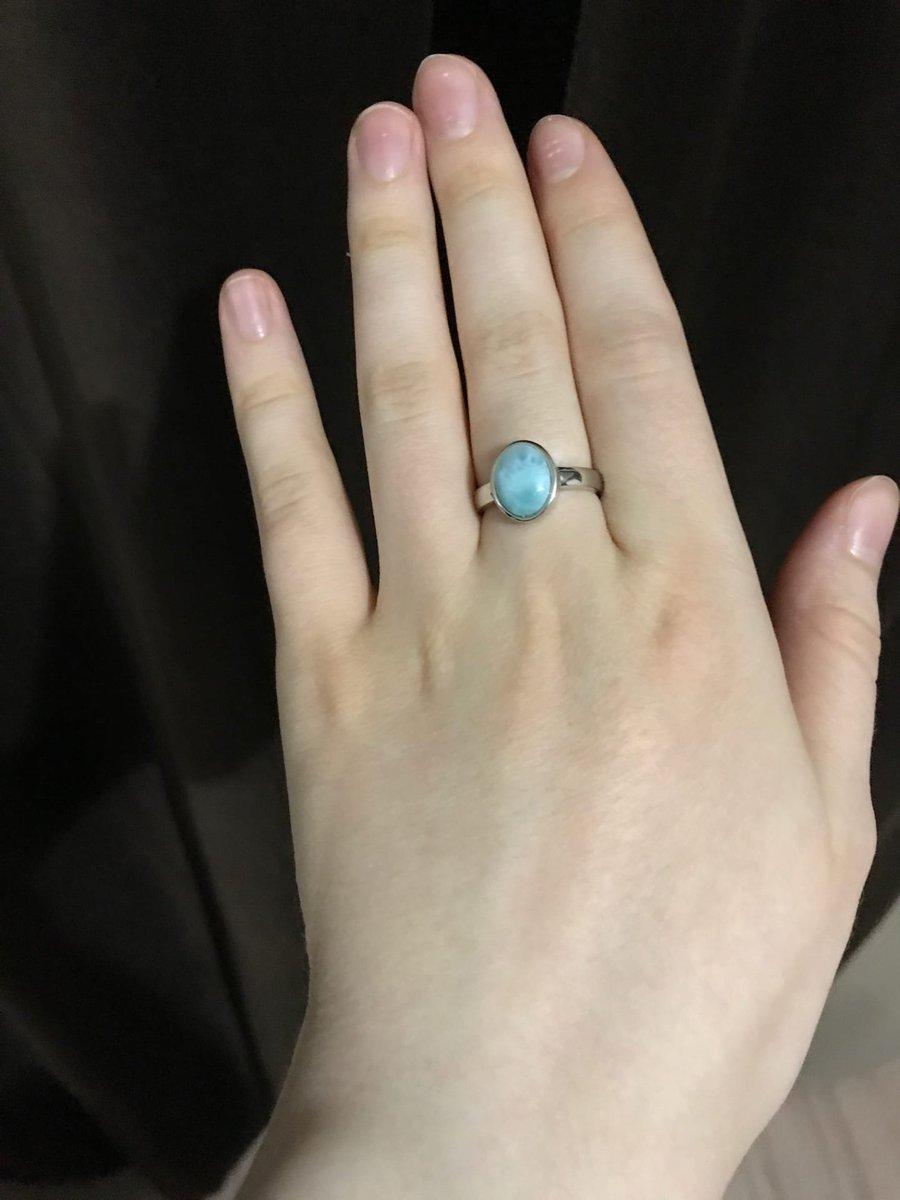 Минималистичное кольцо с ларимаром