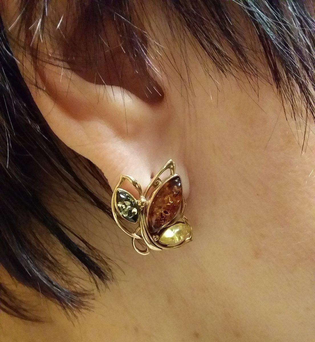 Серьги-бабочка