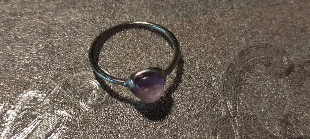 Кольцо с аметистом 💎
