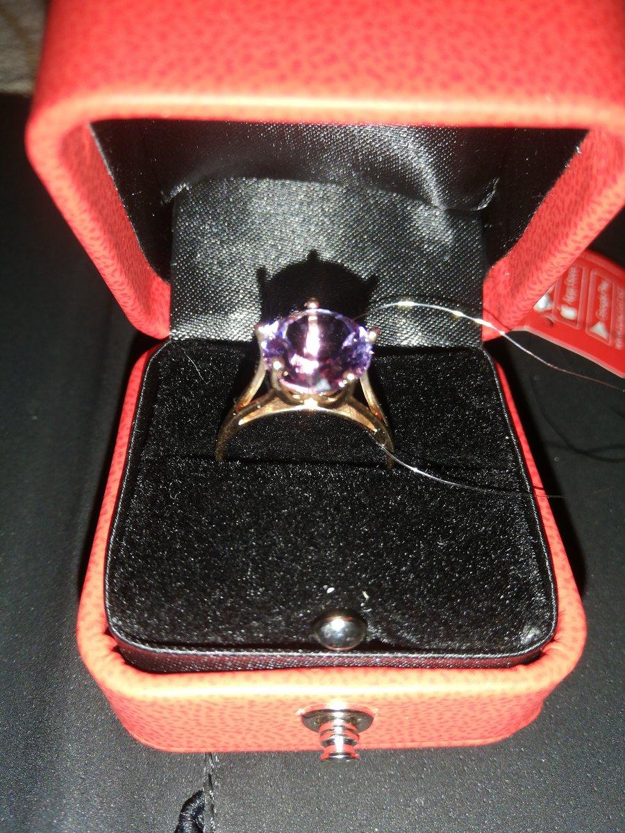 Кольцо с аметисом в три карата