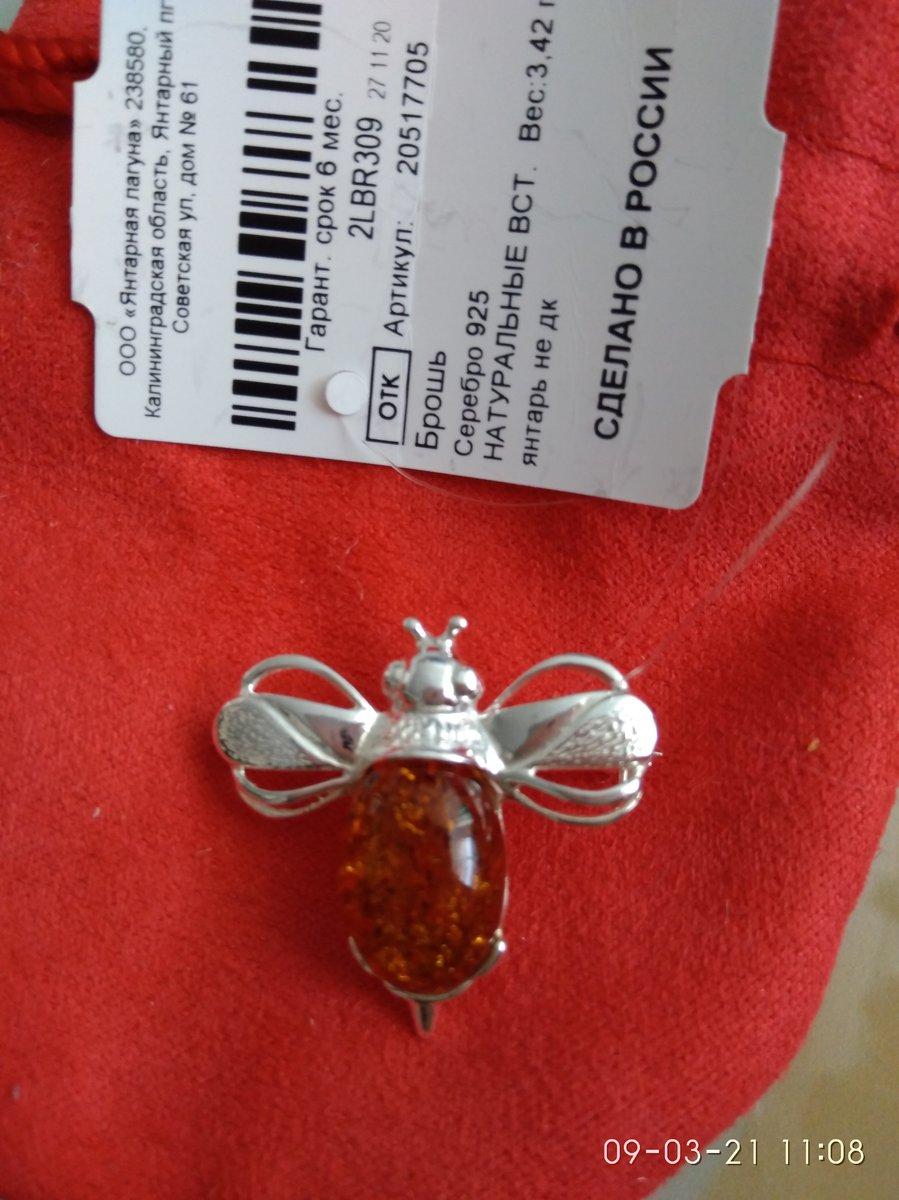 Пчелка с янтарем