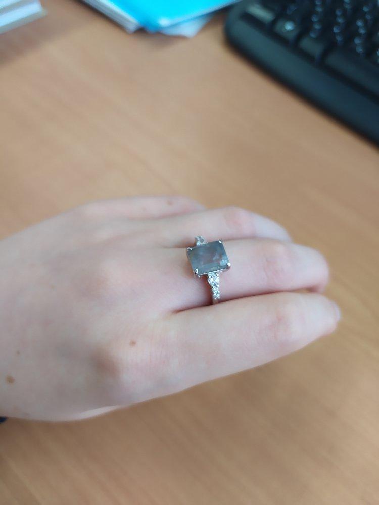 Кольцо с кварцем