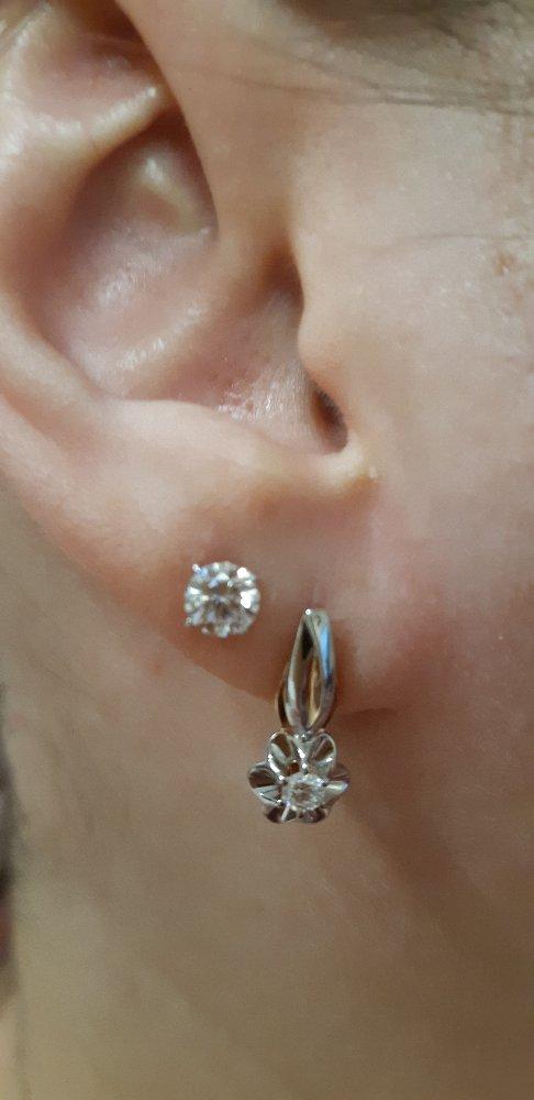 Красивые, нежные серьги с бриллиантами