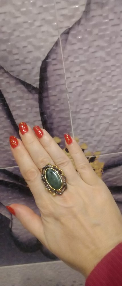 Кольцо с  серафинтом, клинохлором