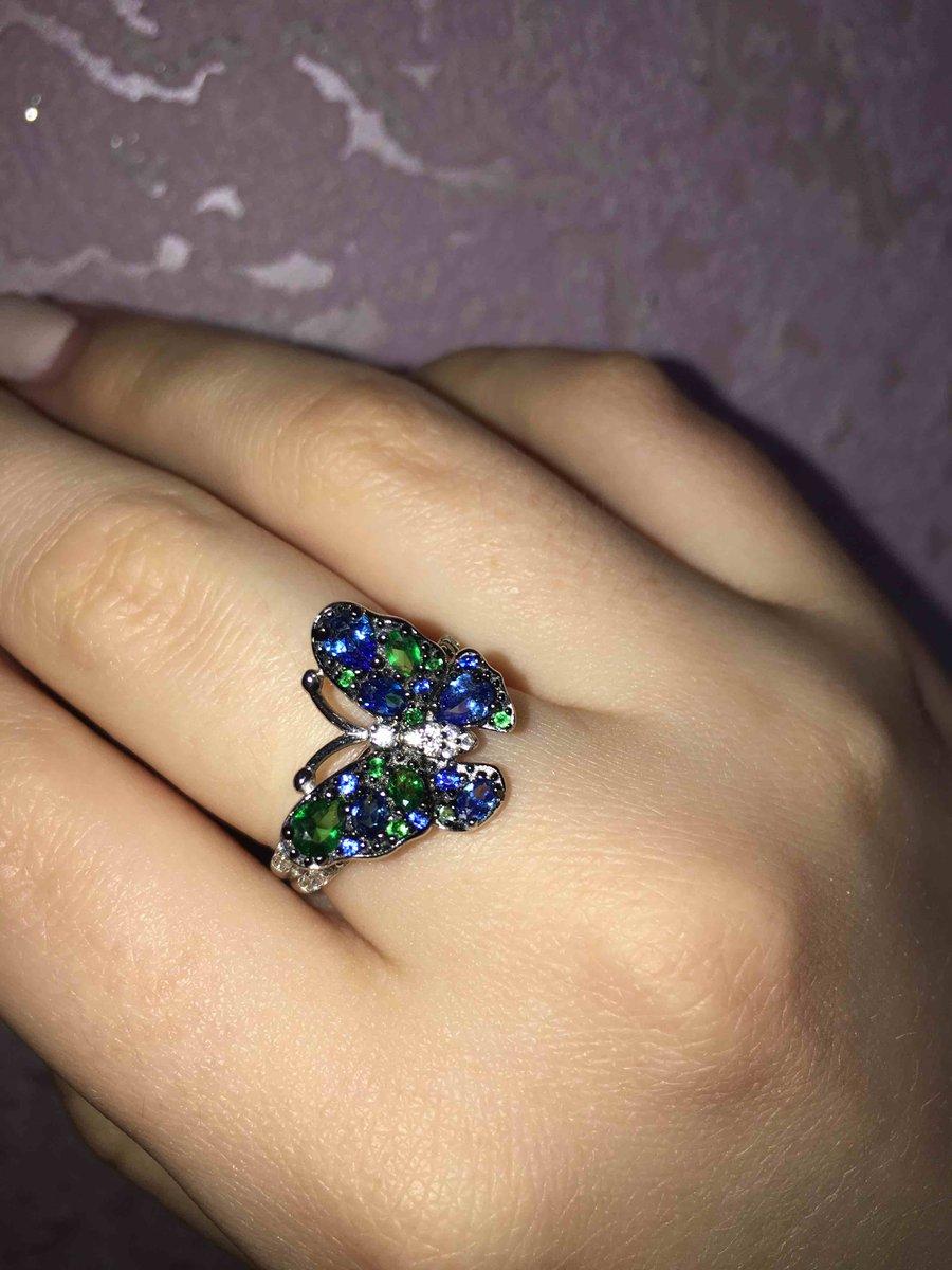 Замечательное кольцо с бабочкой!