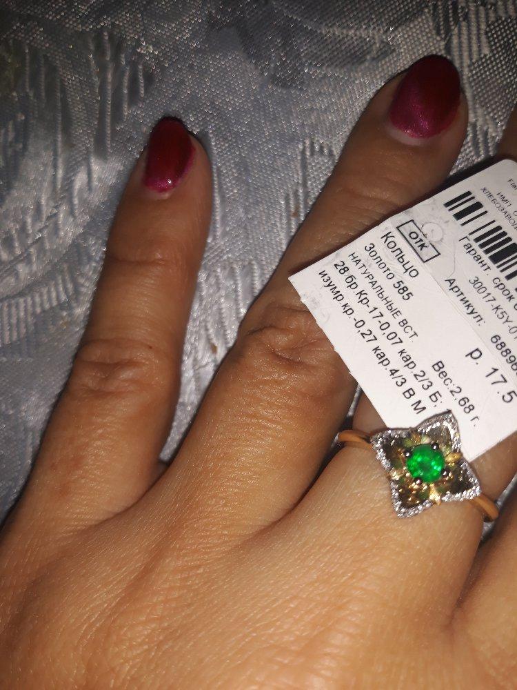Кольцо с изумрудом. очень давно хотела. красивое и стильное кольцо.