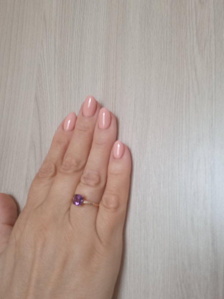 Кольцо с аметистом и 2 бриллиантами.