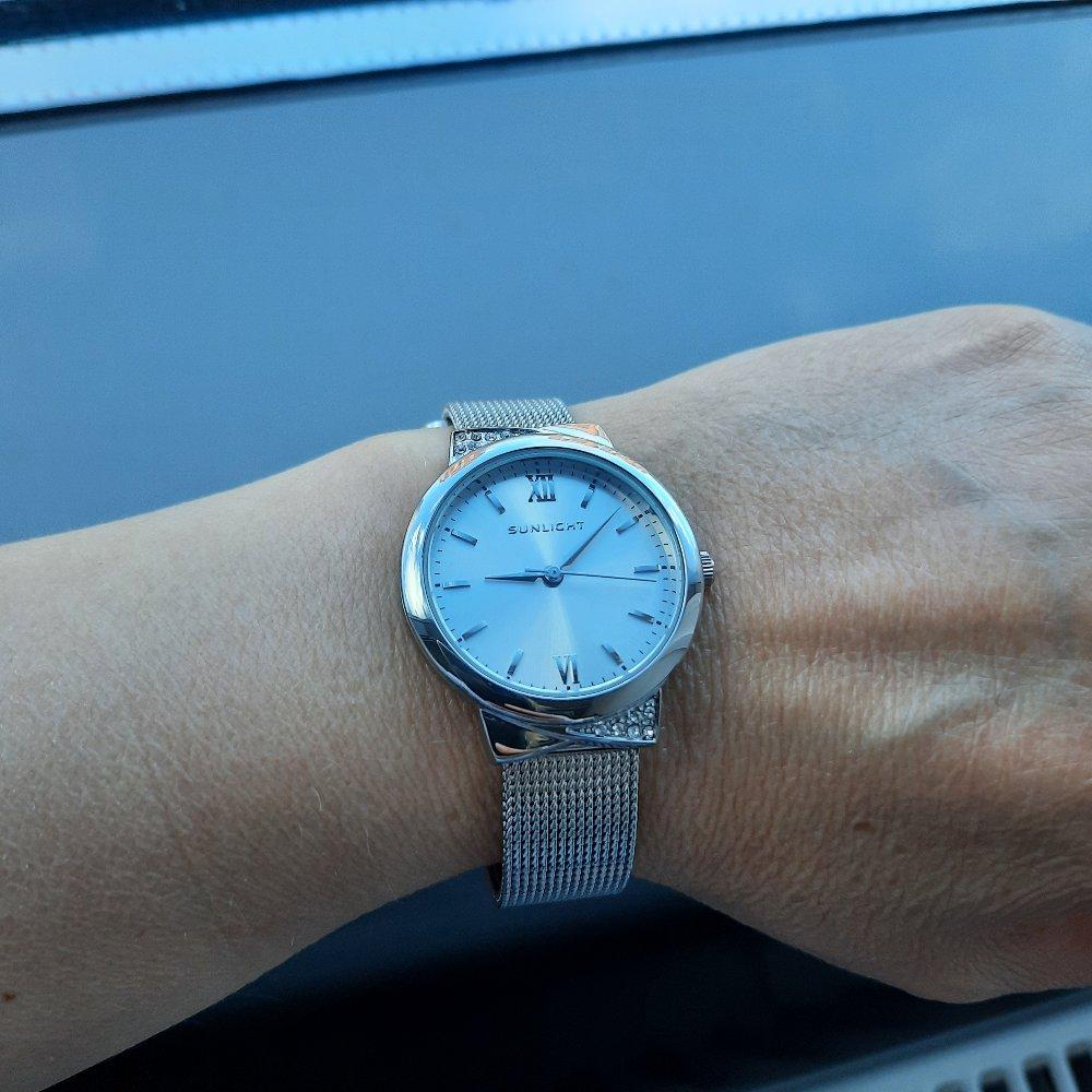 Часы металлик