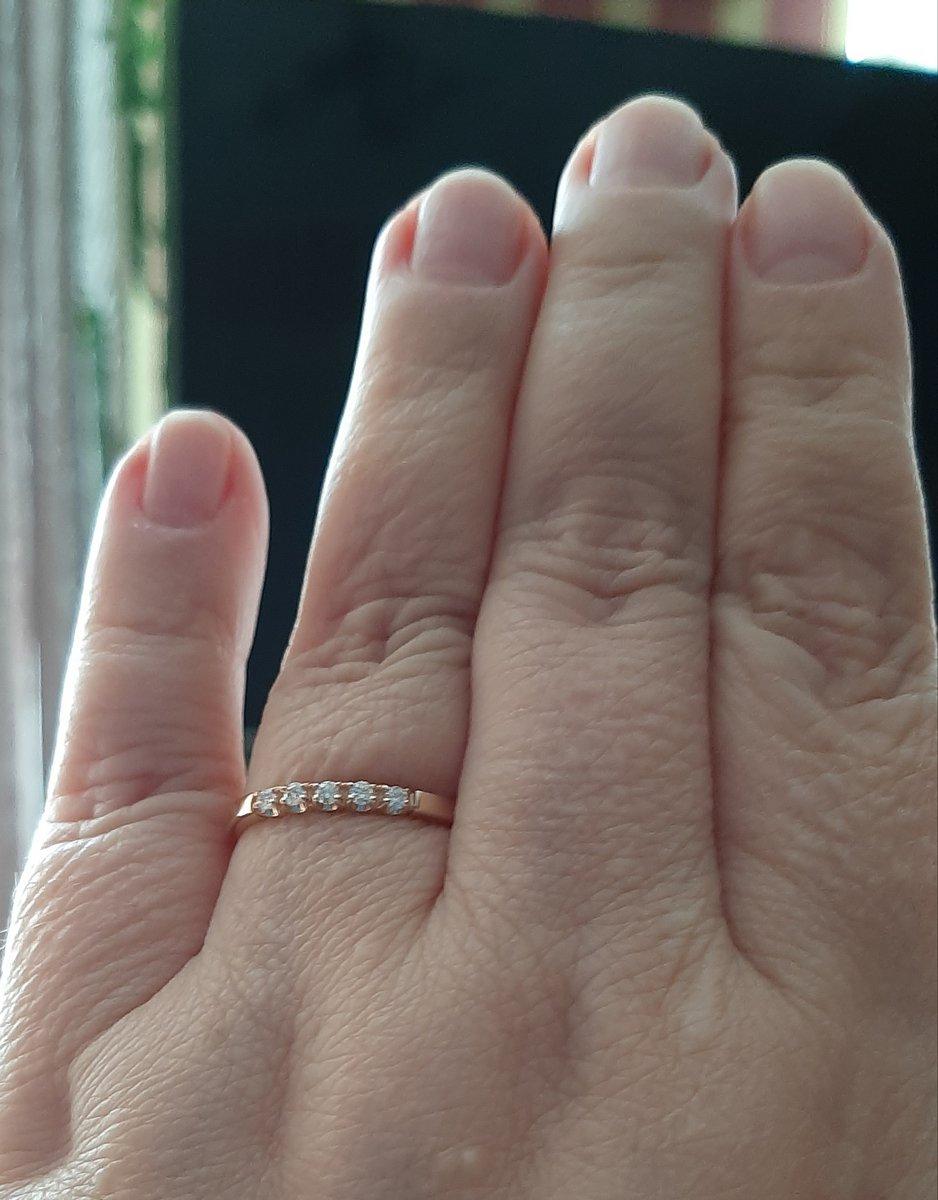 Золотое кольцо. бриллианты якутии.