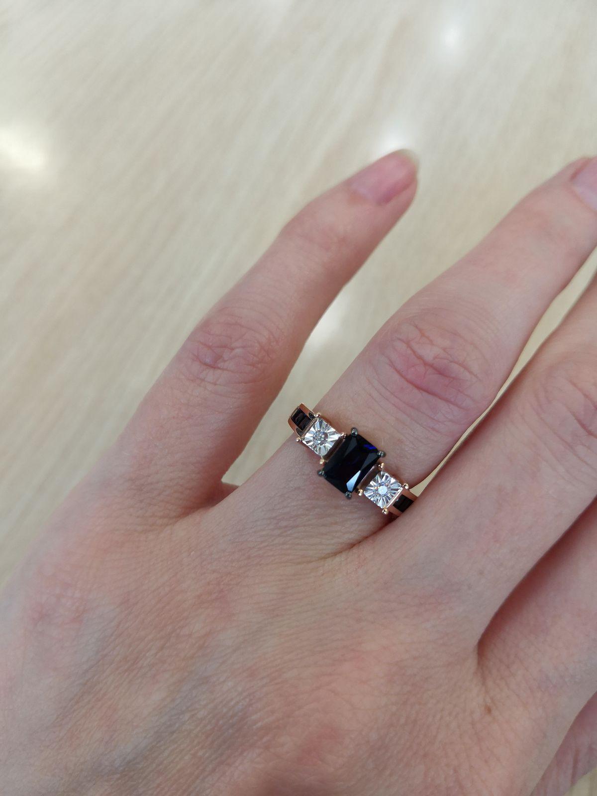 Отзыв на кольцо с сапфирами и бриллиантами.