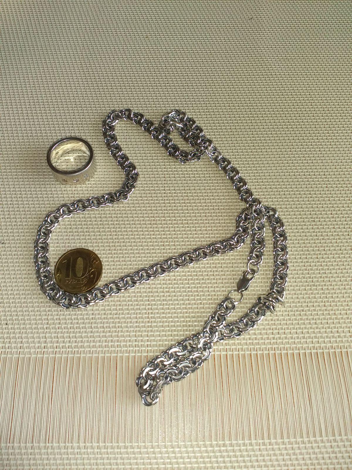 Цепь, серебро, 70 см
