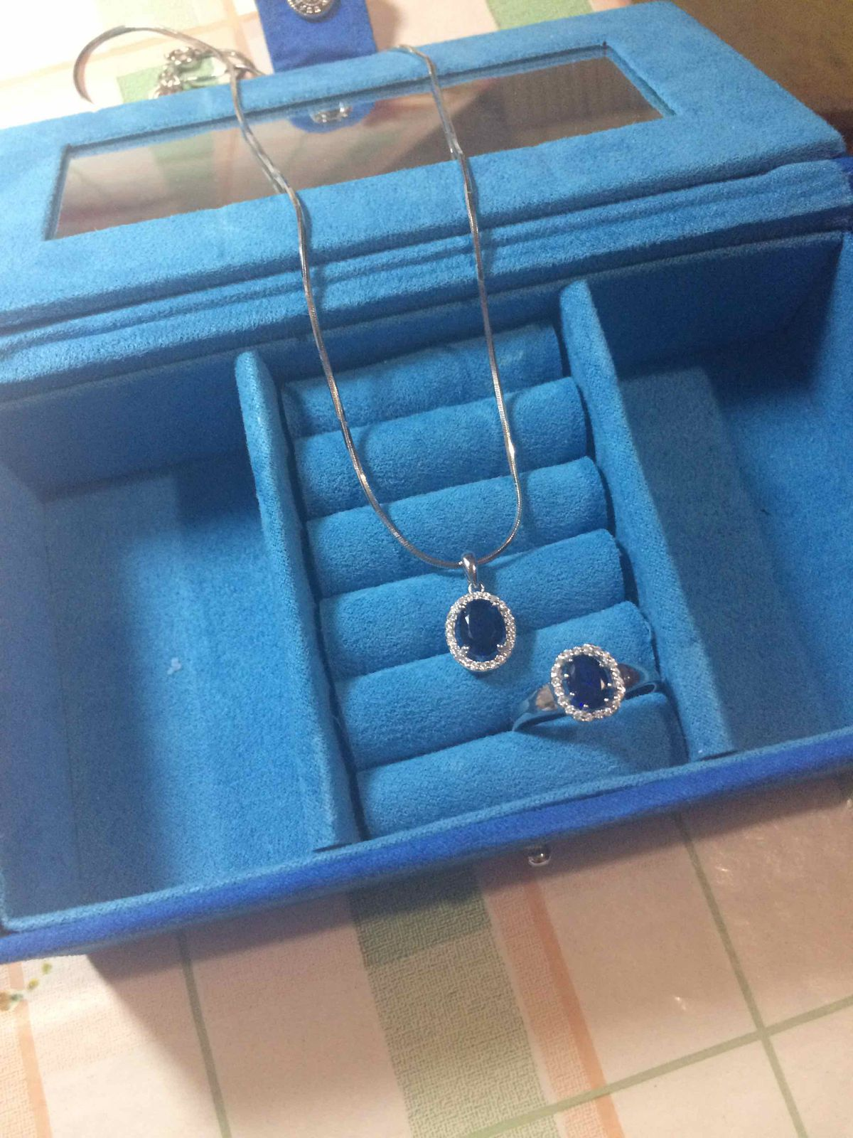 Комплект кольцо и кулон