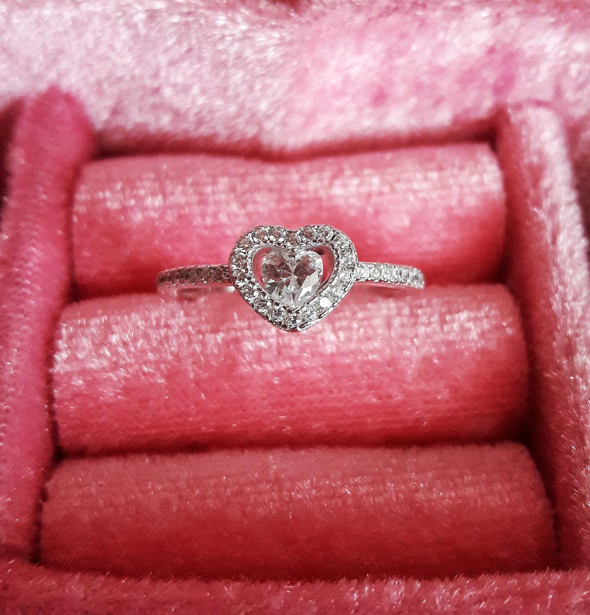 Кольцо сердце ❤
