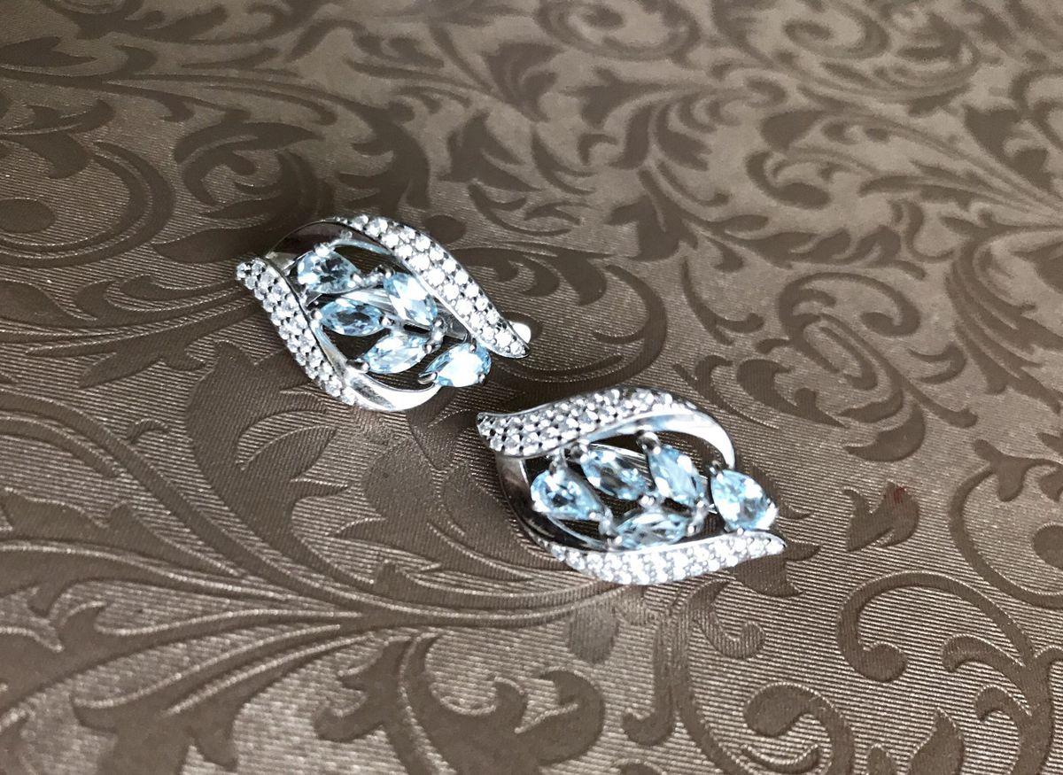 Красивые сережки с топазами