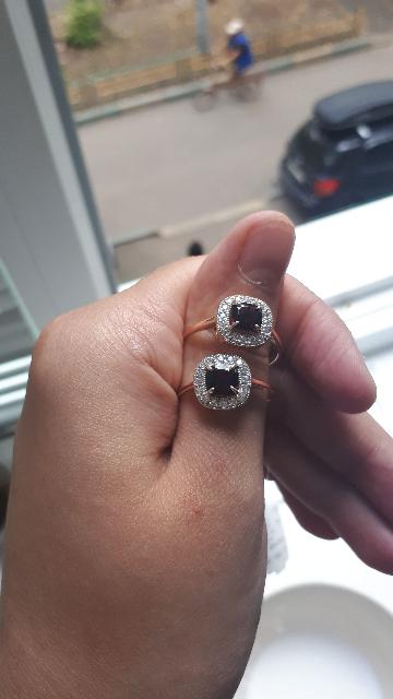 Кольцо гранатом