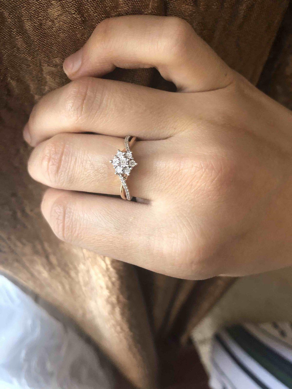 Нежное кольцо с бриллиантами❤️❤️❤️❤️❤️