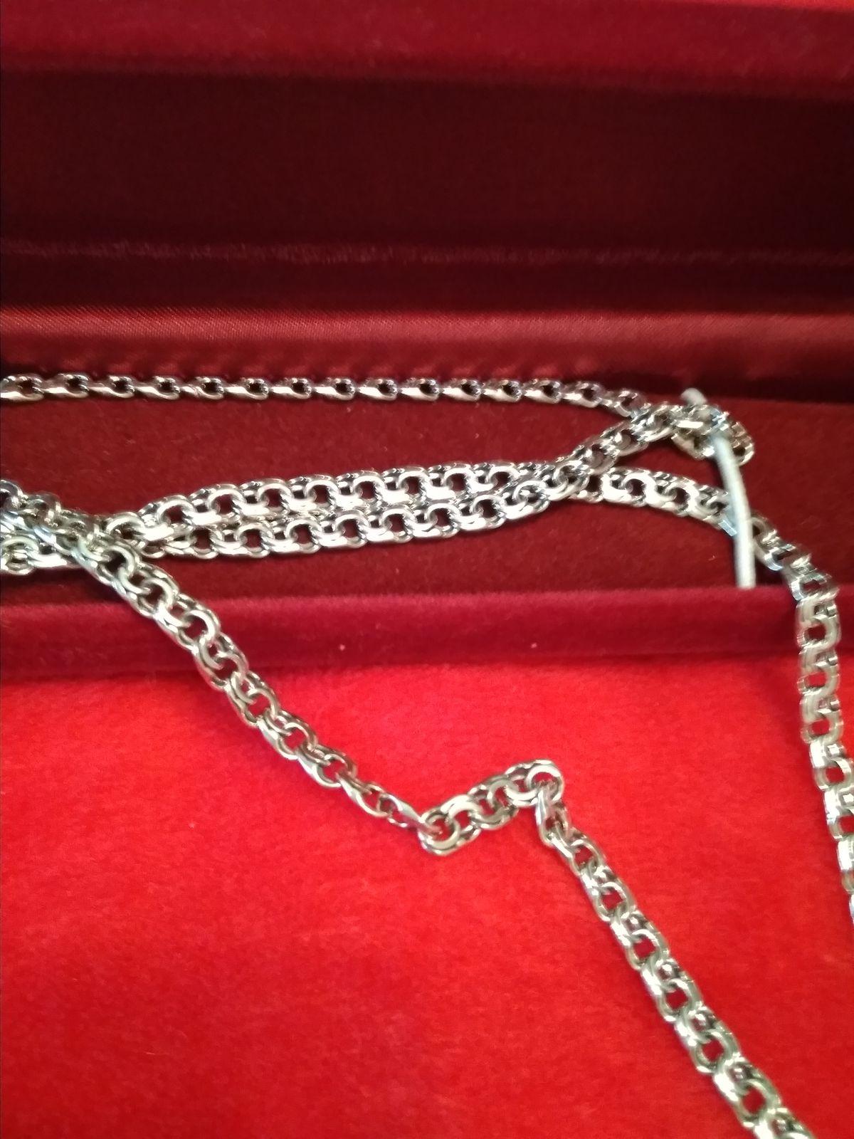 Мужская серебренная цепочка