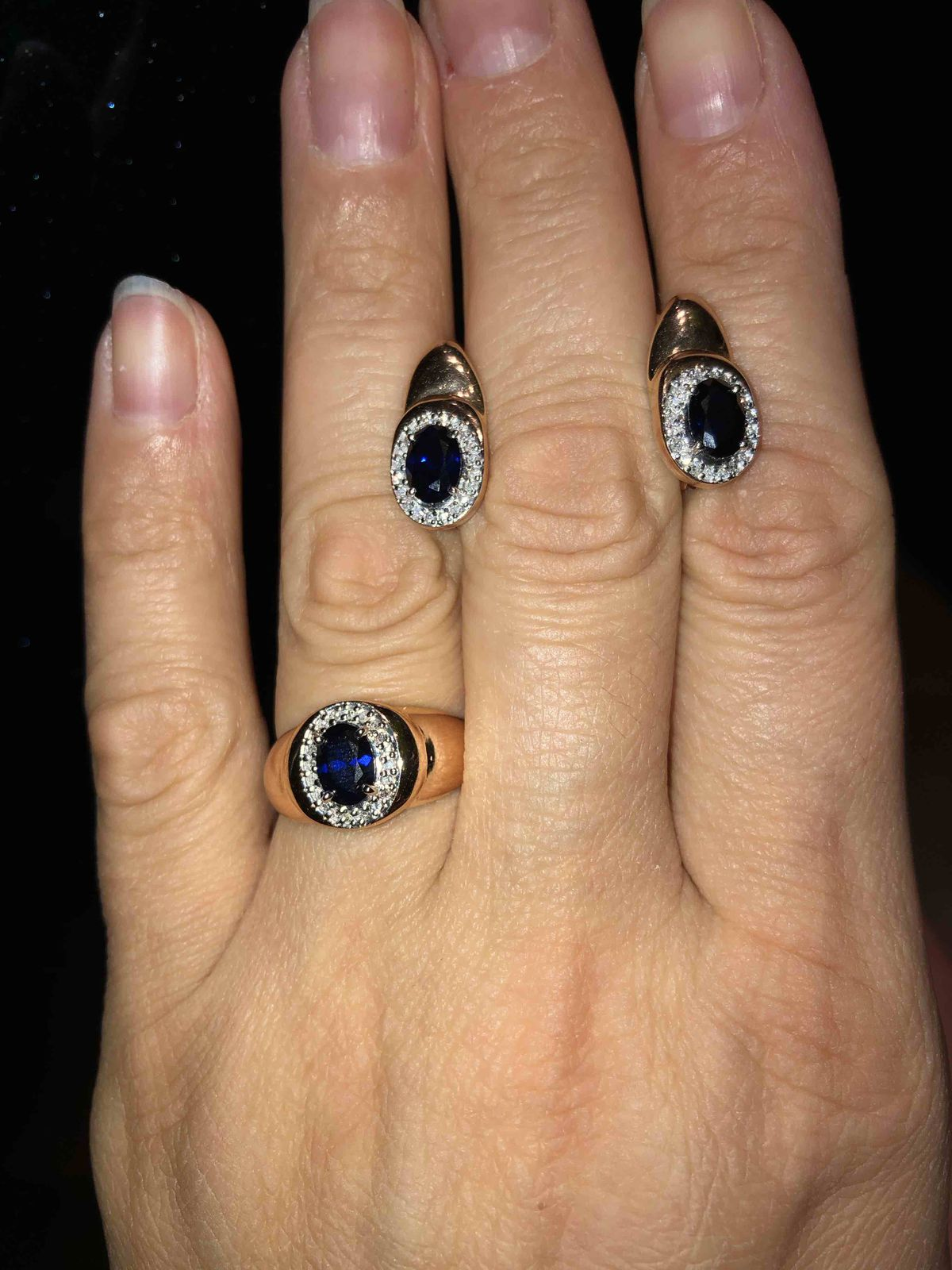 Сапфир и бриллианты