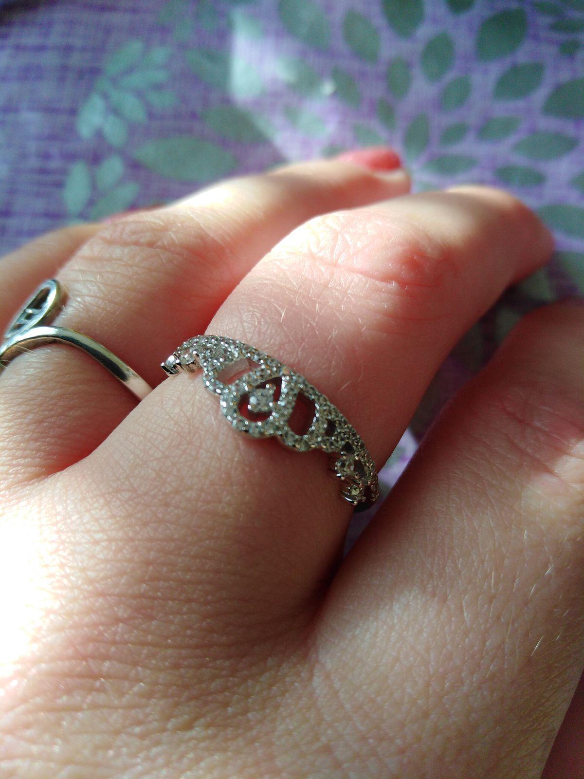 Красивое кольцо, о котором давно мечтала.