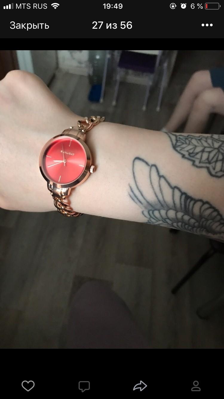Изящные, красивые часы приобрела на подарок