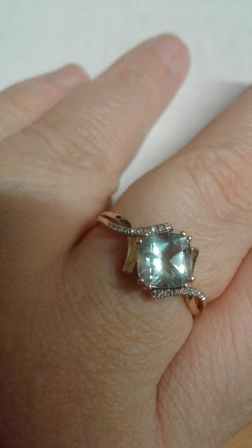 Стильное кольцо в комплект к сережкам