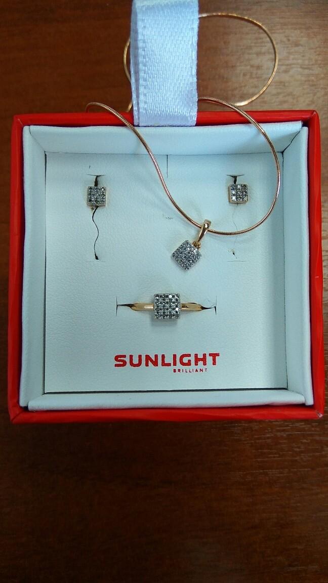 Золотой комплект с бриллиантами собран - спасибо Санлайт!!!