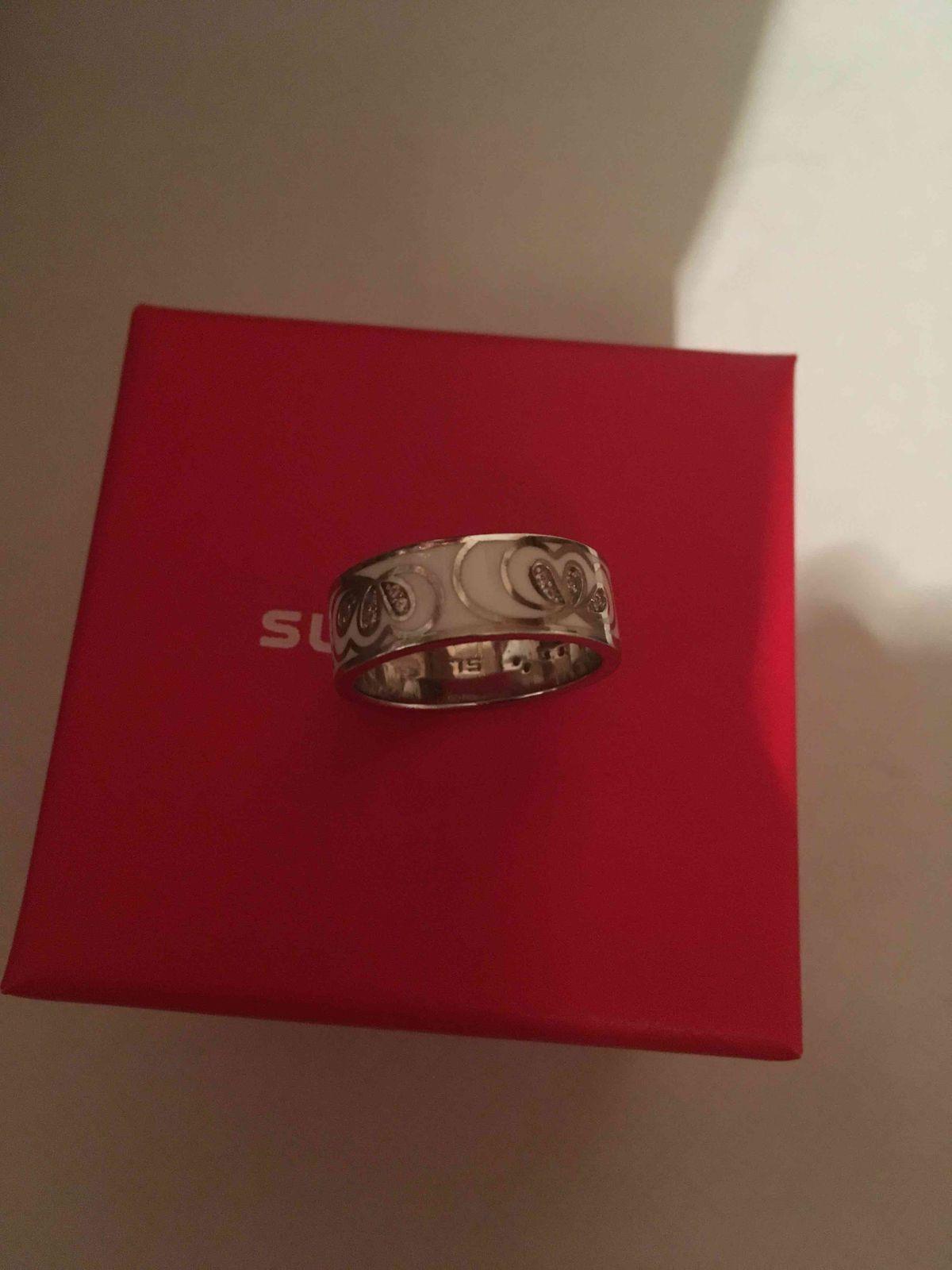 Кольцо с фианитами серебрянное