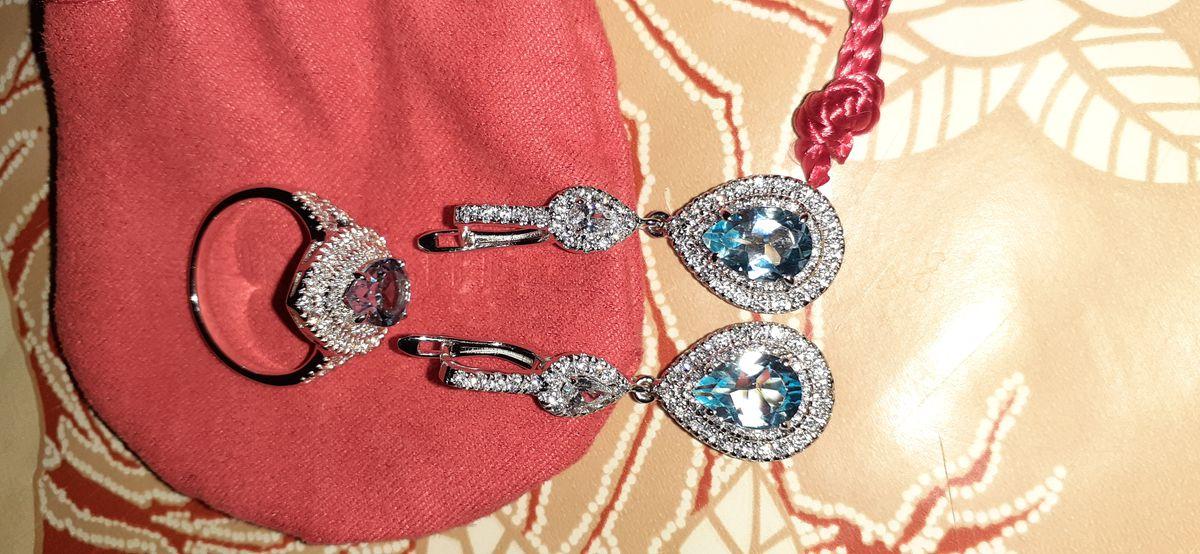 Серебряное кольцо с топазом!