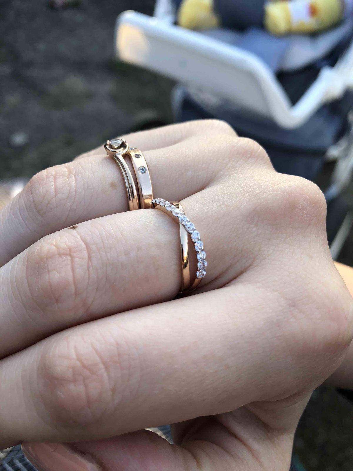 Кольцо от мужа на день рождение!