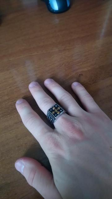 Кольцо серебряное (печатка)