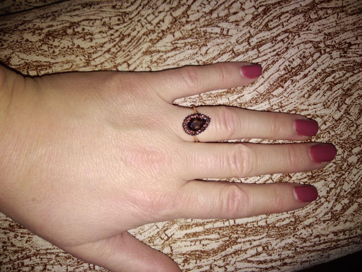 Кольцо с раухтопазом!