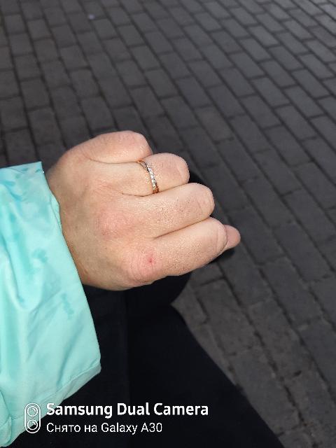 Отлично смотриться кольцо