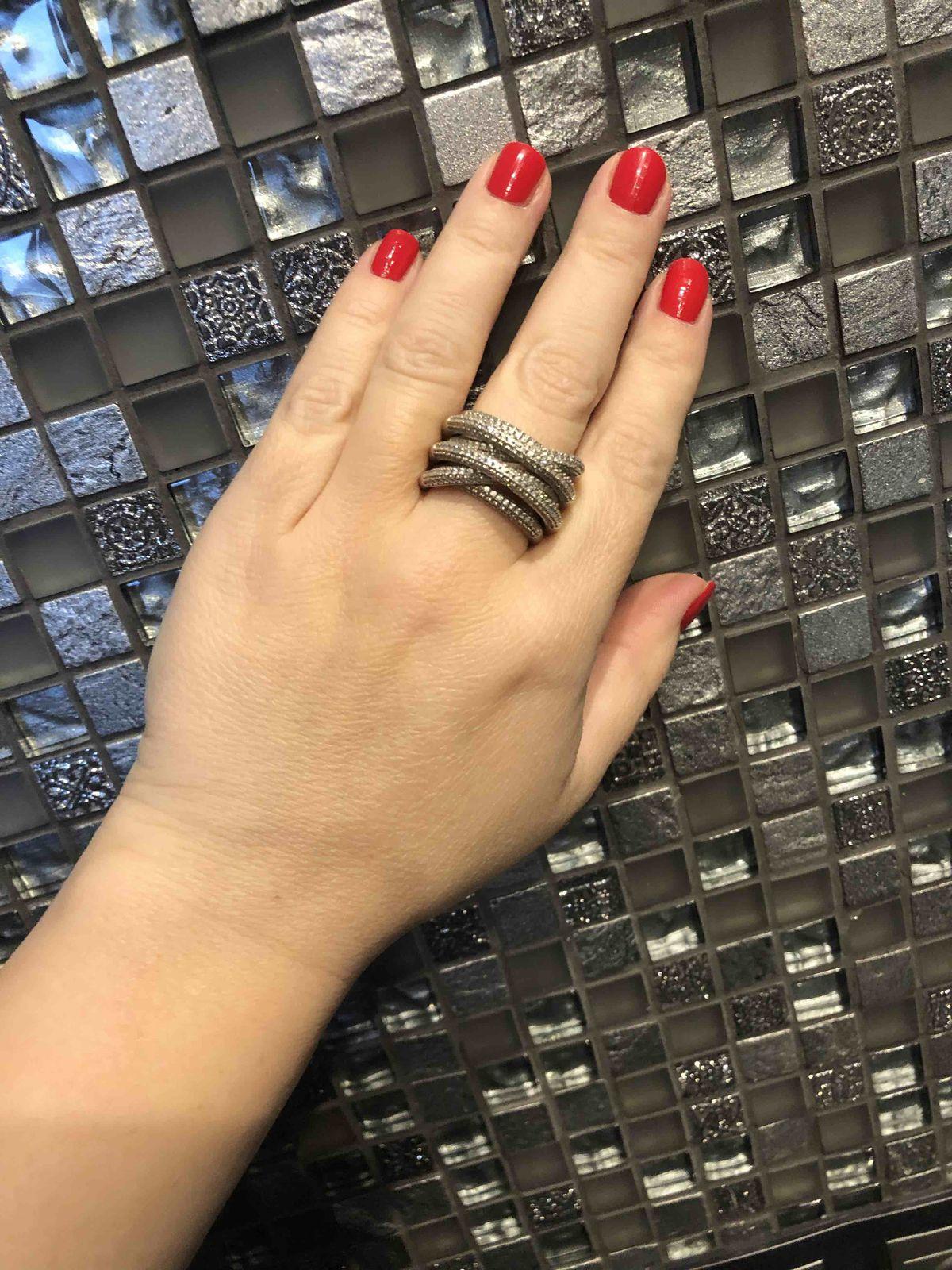 Серебряное массивное кольцо