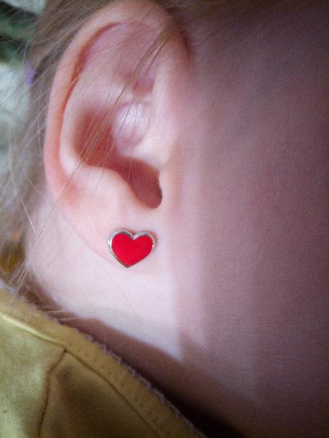 Сережки-сердечки
