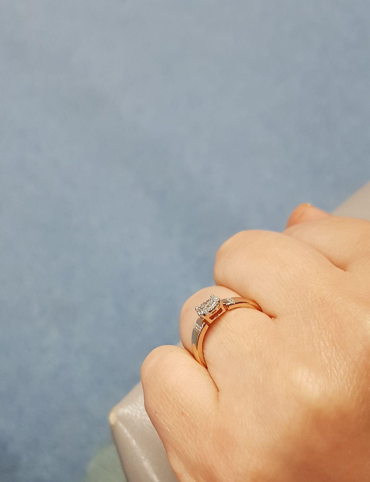 Кольцо с бриллиантами !