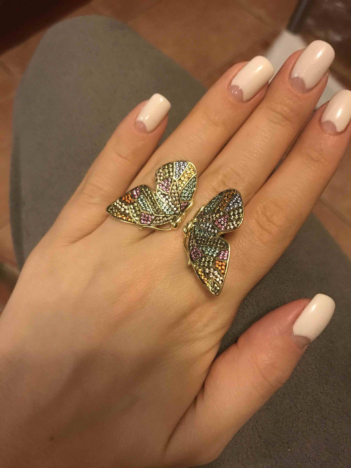 Кольцо - бабочка