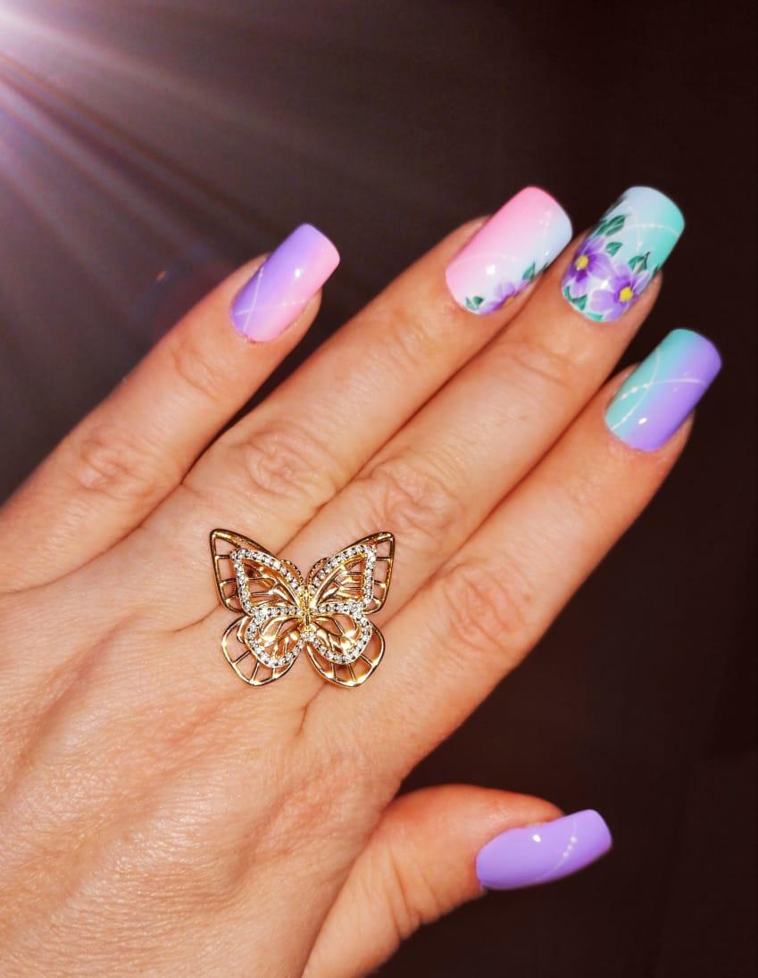 Кольцо- бабочка