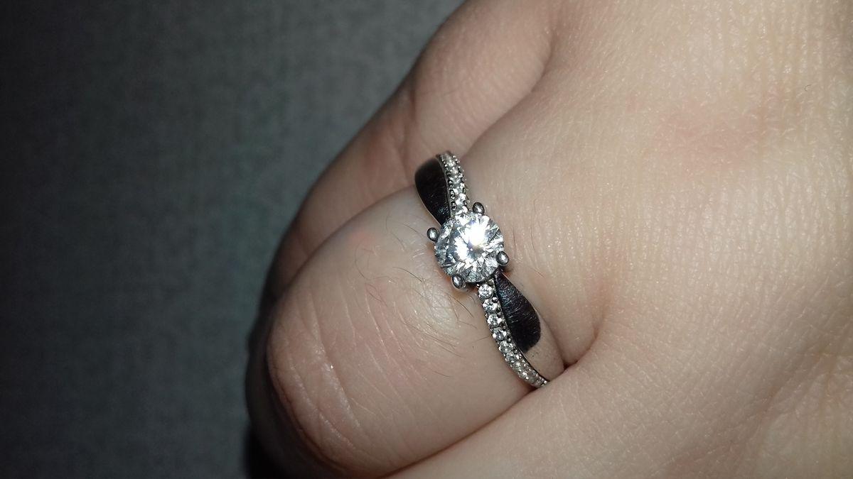 Серебряное классическое кольцо