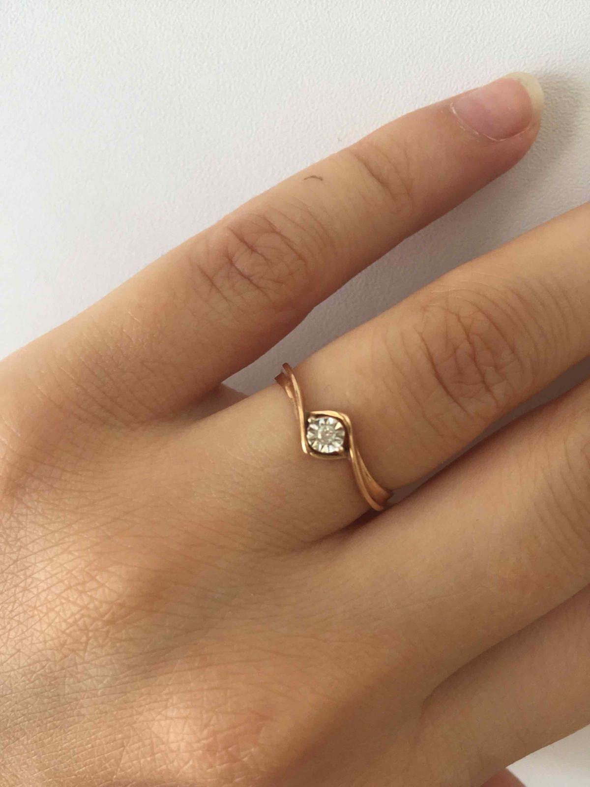 Кольцо с бриллиантом!
