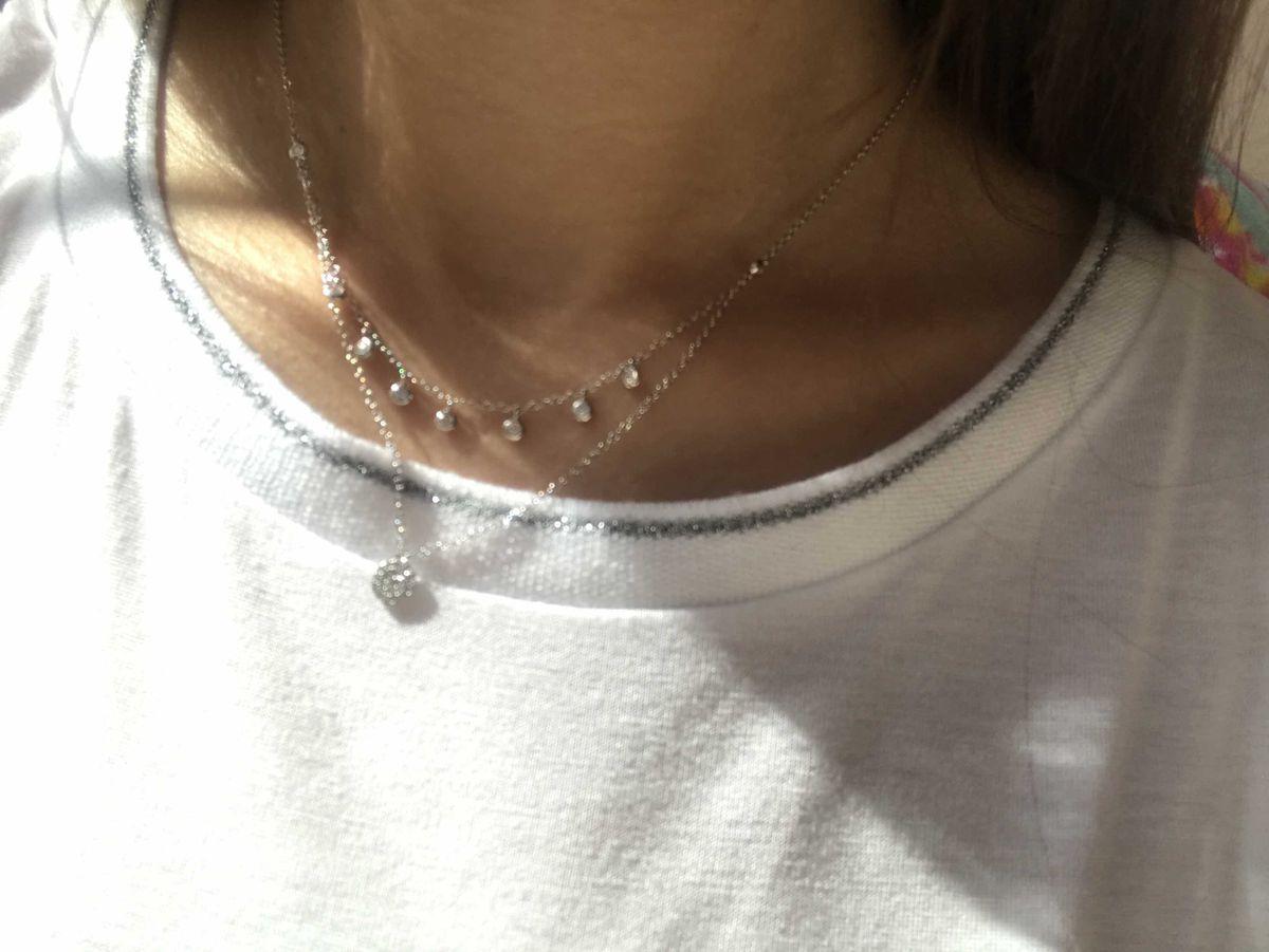 Шейное украшение из серебра, тонкая изящная, смотрится очень красиво,рада