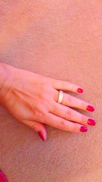 Серебряное кольцо с дорожкой фианитов
