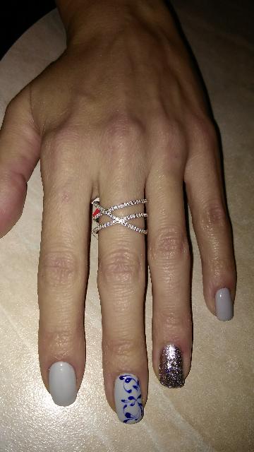 Праздничное и удобное кольцо