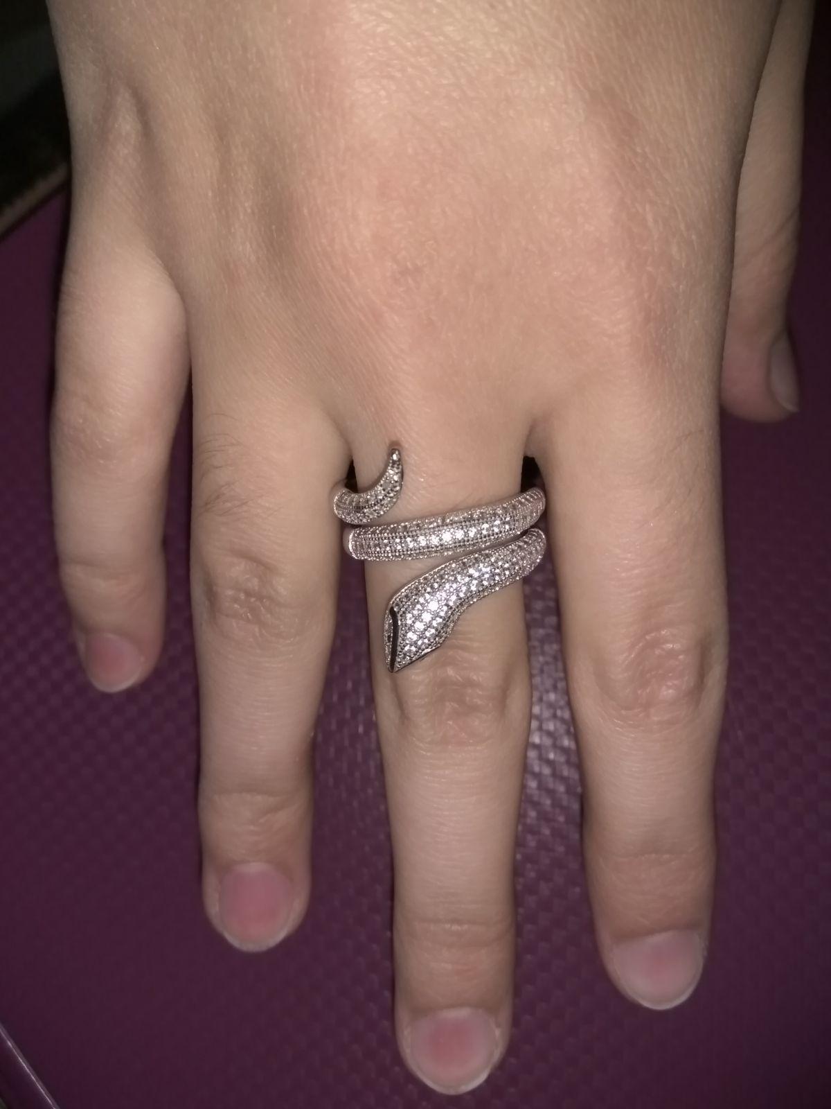 Кольцо змейка.