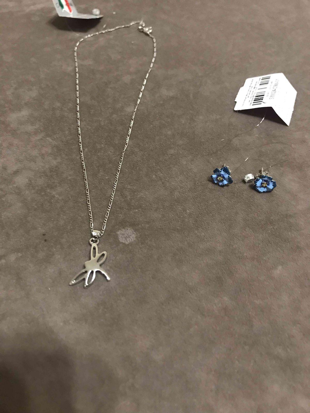 Серебрянные серьги с фианитами и эмалью