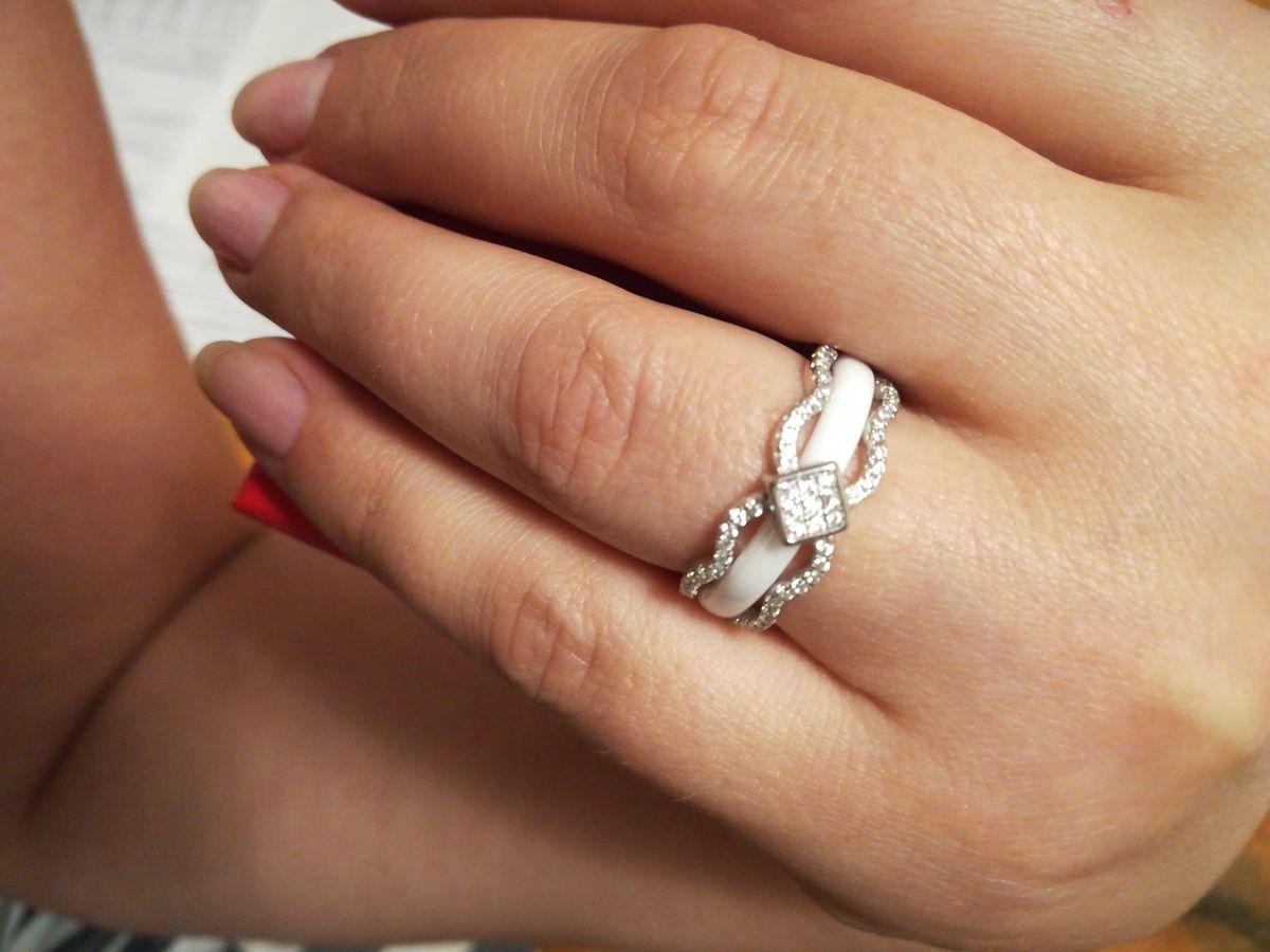 Керамическое кольцо из серебра