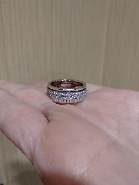 Серебряное кольцо-гайка