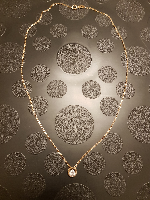Золотая цепочка,40 см. Якорное плетение