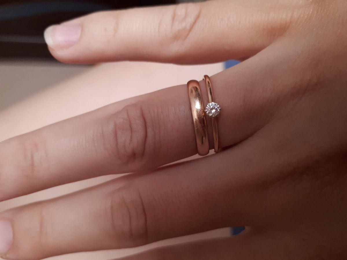 Милое кольцо с фианитом