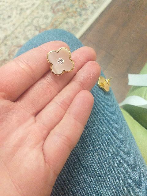 Нежно-розовый перламутр