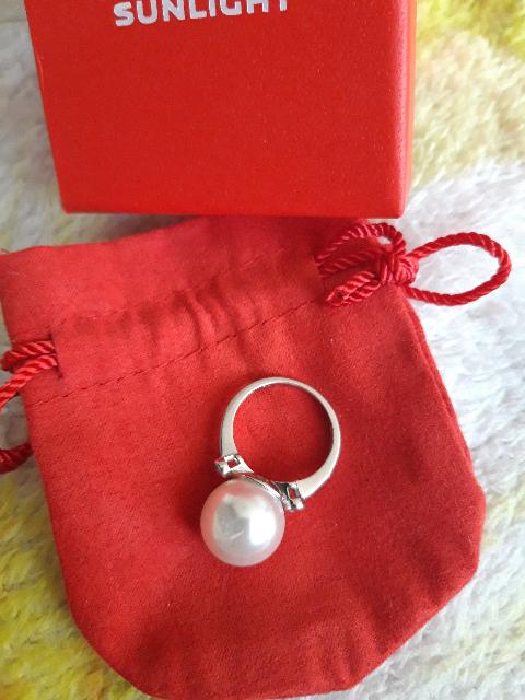 Кольцо серебро и жемчуг
